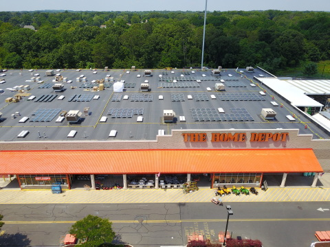 The 11.9MW rooftop PV portfolio will be comprised of 30,000 rooftop solar panels and cut electricity demand by an estimated 30 to 35% annually at each Home Depot store. Image: Current