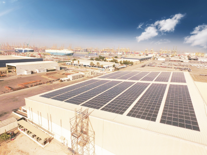 Some cool storage facilities are now running entirely on solar energy. Credit: Twitter - DP World