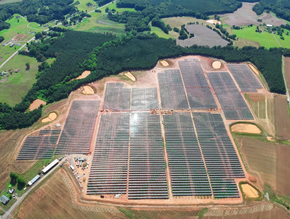 The completed 14MW array in Danville, Virginia. Image: CS Energy.
