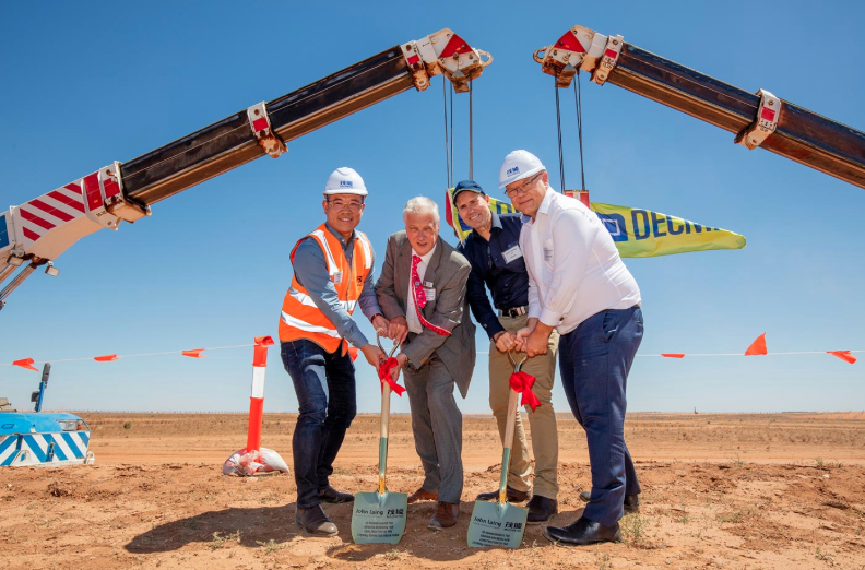 Maoneng is also now preparing another 500MW of solar to be commissioned in line with the proposed SA/NSW interconnector, together with additional energy storage. Credit: Maoneng Australia
