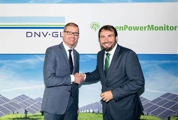 Ditlev Engel, CEO DNV GL - Energy (left) and Juan Carlos Arévalo, CEO of GreenPowerMonitor (right). Credit: DNV GL
