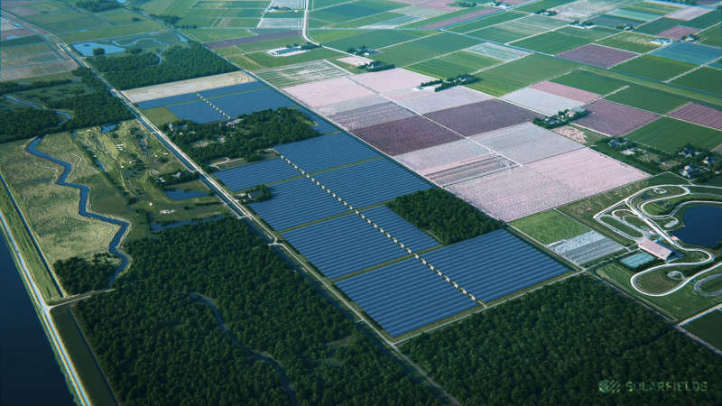 The complex is set to be backed via subsidy scheme SDE+, a driver of solar growth in the Netherlands (Credit: Solarfields)