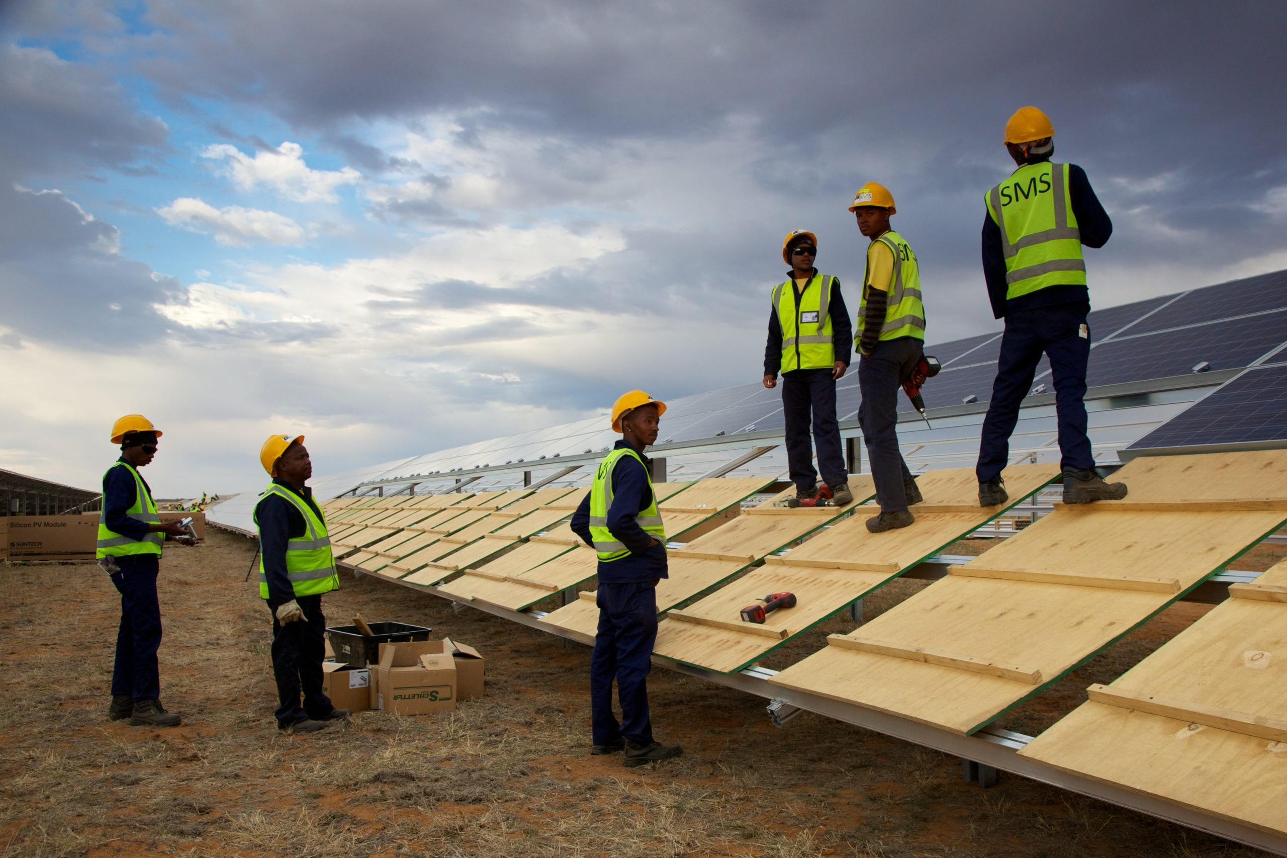 The Droogfontein solar project in South Africa. Image: Luke Younge.