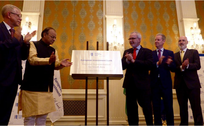 Indian finance minister Jaitley inaugurates the new EIB Regional Representation for South Asia in New Delhi. Credit: EIB