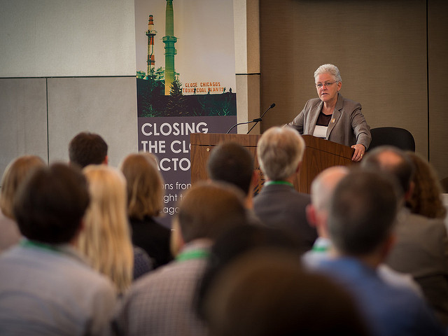 """EPA administrator Gina McCarthy says critics give the Clean Power Plan """"too much credit"""" acquiescing with widespread views that the industry will survive, even if the president-elect dismantles the plan, or worse. Source: Flickr/Eugene Kim"""