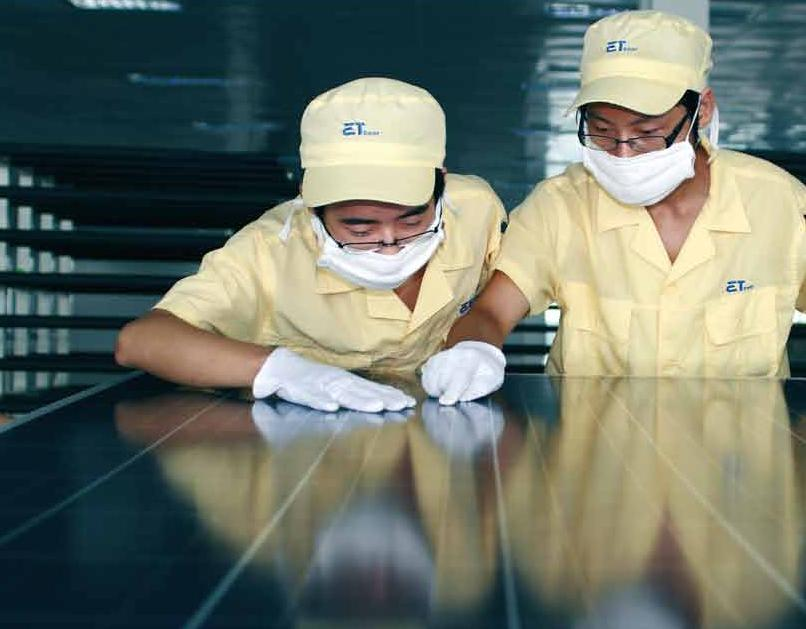 Longi Silicon Materials has signed a cooperation contract with China-based PV module manufacturer and EPC firm, ET Solar to champion monocrystalline technology and products globally. Image: ET Solar