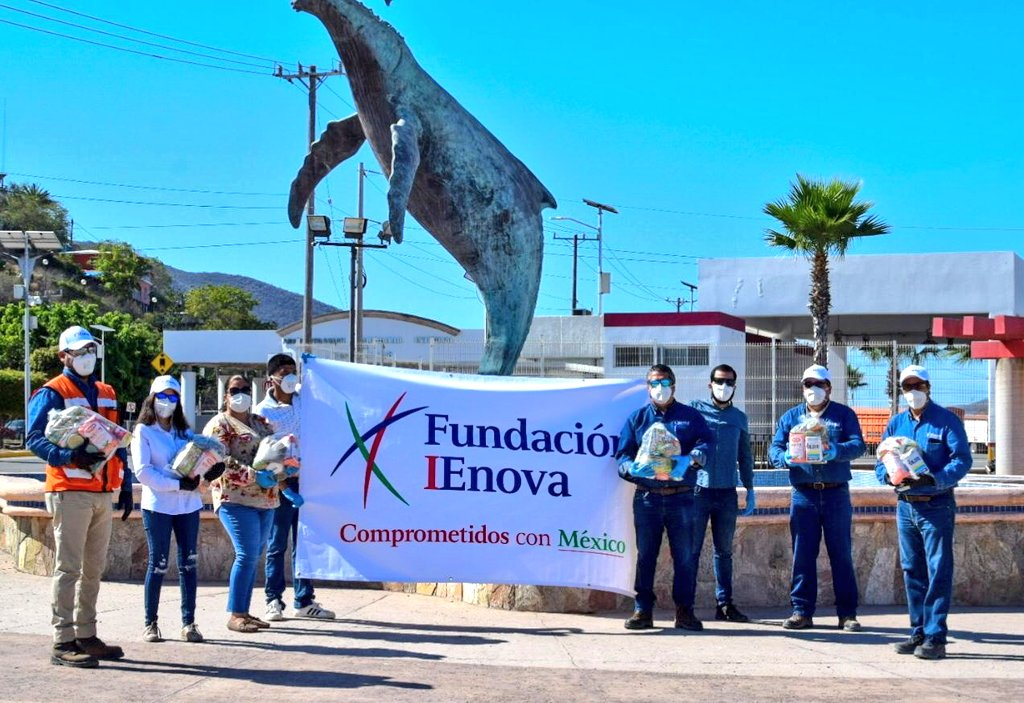 IEnova's food donations were delivered with the help of charities Valores Topolobampo AC and Cáritas Sinaloa. Image credit: IEnova on Twitter