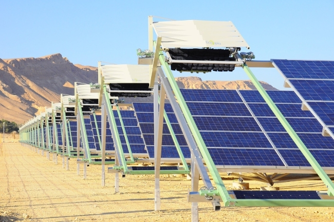Ecoppia's solution will be deployed in 168MW of a 190MW section of the solar park. Image: Ecoppia