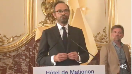 The prime minister presents the Great Investment Plan. Credit: Edouarde Philippe - Facebook