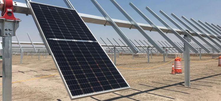 The 550,000-module, 220MW Magdalena II bifacial solar plant features advanced single-axis trackers arranged in a 2x42 configuration (Image credit: Enel Green Power)
