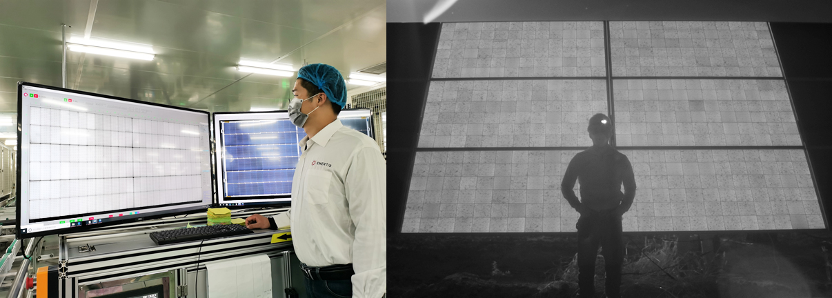 An electroluminescence inspection taking place. Image: Enertis.