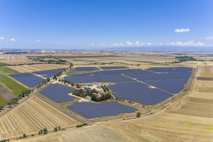 European Energy's 103MW solar farm in southern Italy, which was completed in July. The company said its solar and wind portfolio will exceed 1GW by the end of 2020 Image: European Energy
