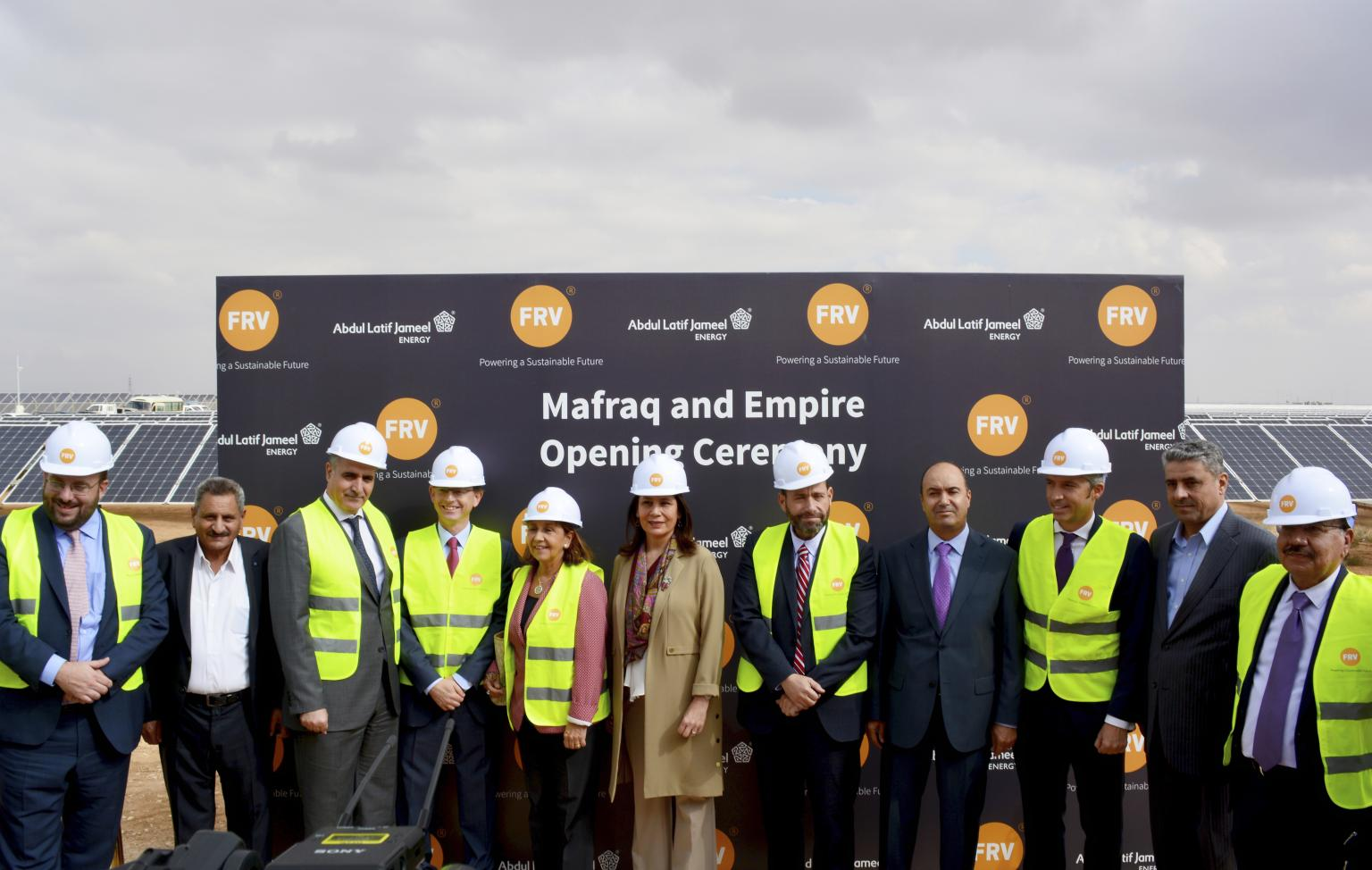 Photo call at the inauguration ceremony for Mafraq I and Empire PV plants. Source: FRV, LinkedIn