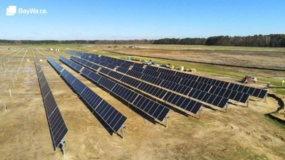 The under-construction Fern County solar project, developed by BayWa r.e. Image: BayWa r.e.