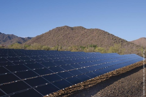 The 250MW PV project can generate enough clean energy to power around 111,000 homes in Los Angeles. Image: First Solar