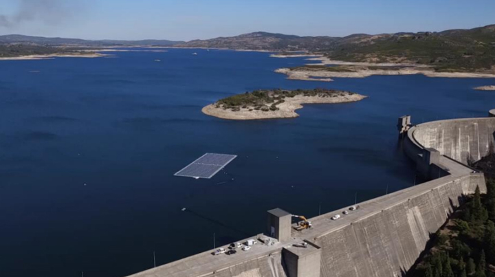 EDP has added floating solar to dam installations and will explore wind-solar hybrids (Credit: EDP)