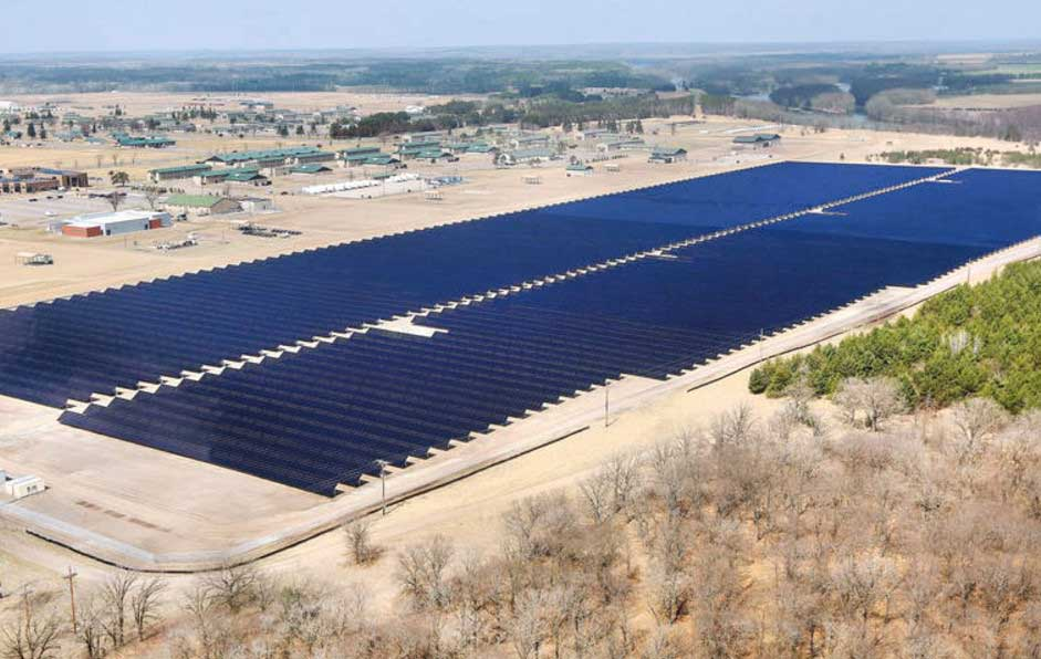 The MaxSpan systems were chosen due to their ability to withstand the harsh and snow-covered areas in Massachusetts, Connecticut, New York and Minnesota. Image: GameChange Solar