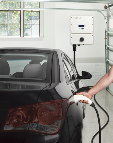 SolarEdge is one of the first companies to integrate EV charging with the Google Assistant. Image: SolarEdge