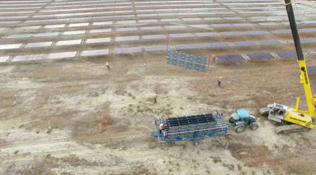 The 50MW Kidston project in North Queensland during its construction phase. Image: Genex.