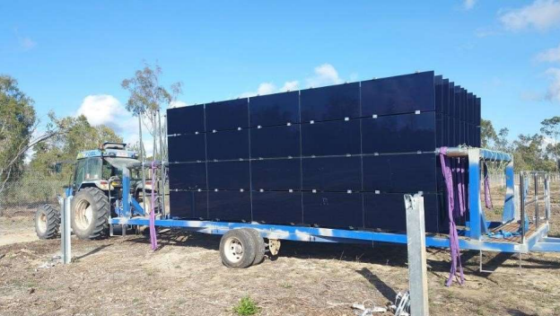 Construction of the first 50MW solar phase is currently on time and within budget. Credit: Genex