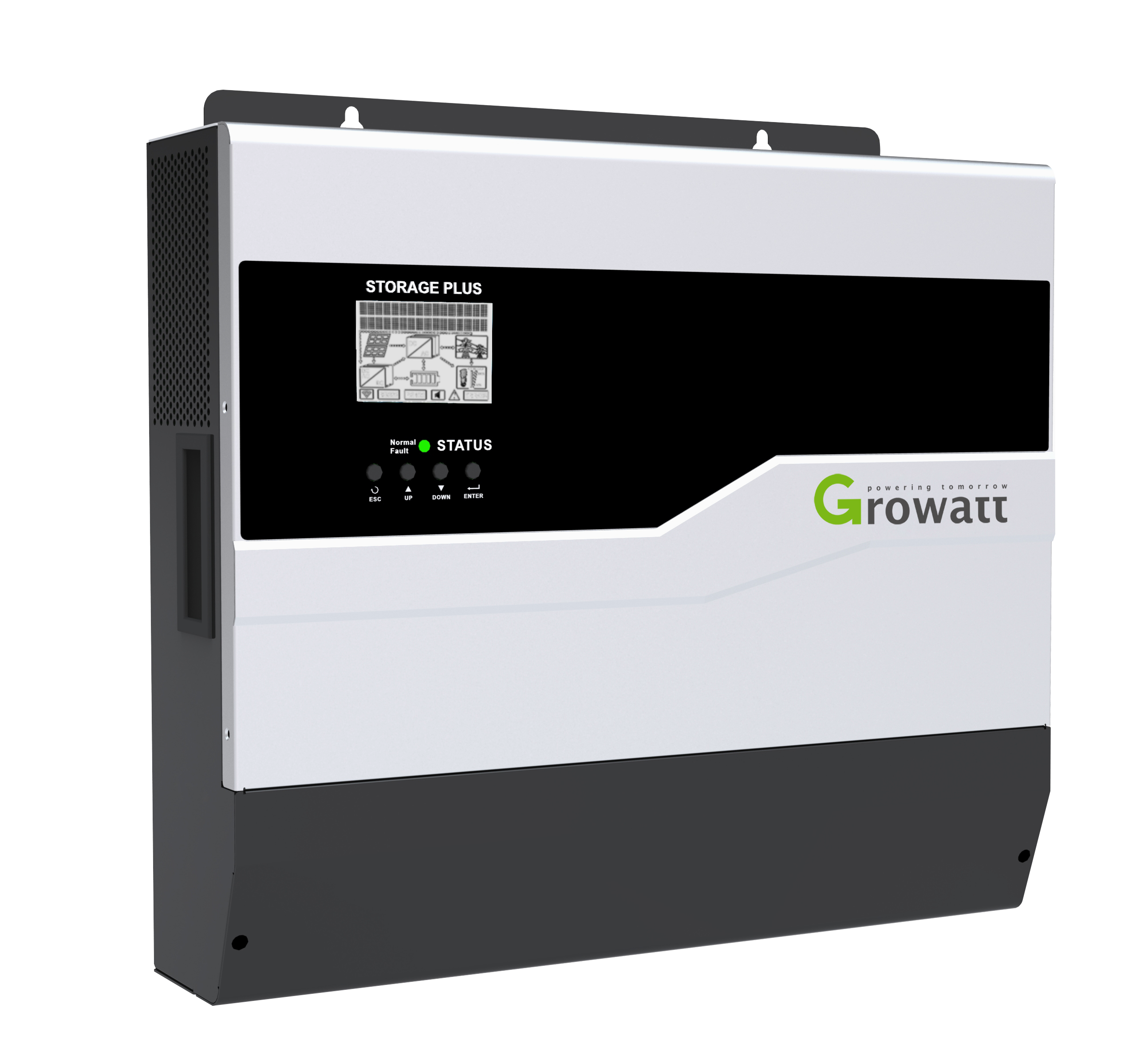 SPF3000/5000 off-grid inverters have two built-in MPPT for higher yields and are compatible with lead-acid and lithium-ion battery technology. Image: Growatt