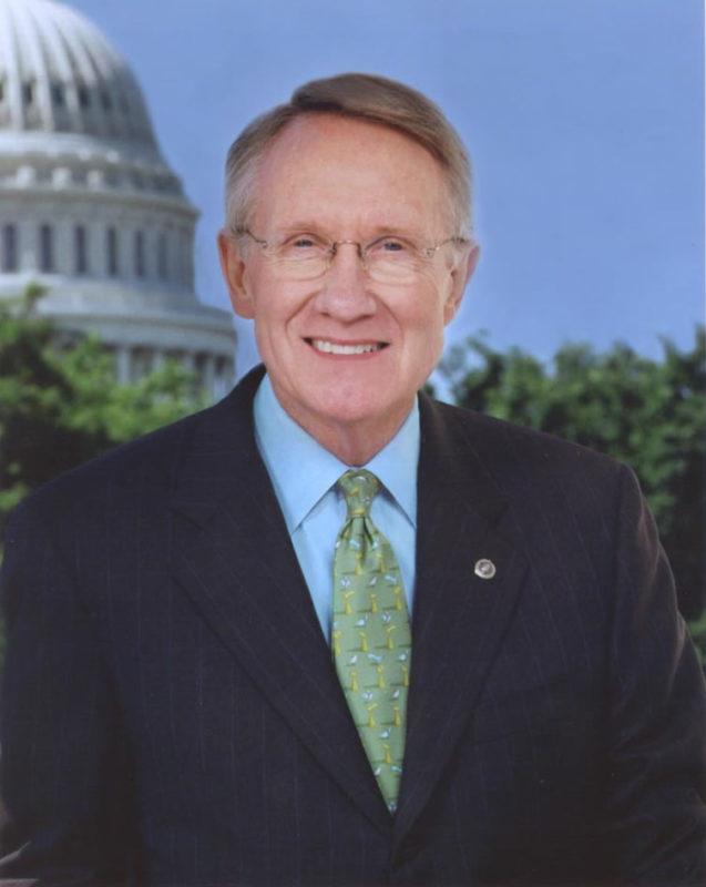 Nevada senator Harry Reid, pictured in 2002. Image: Official portrait photo.