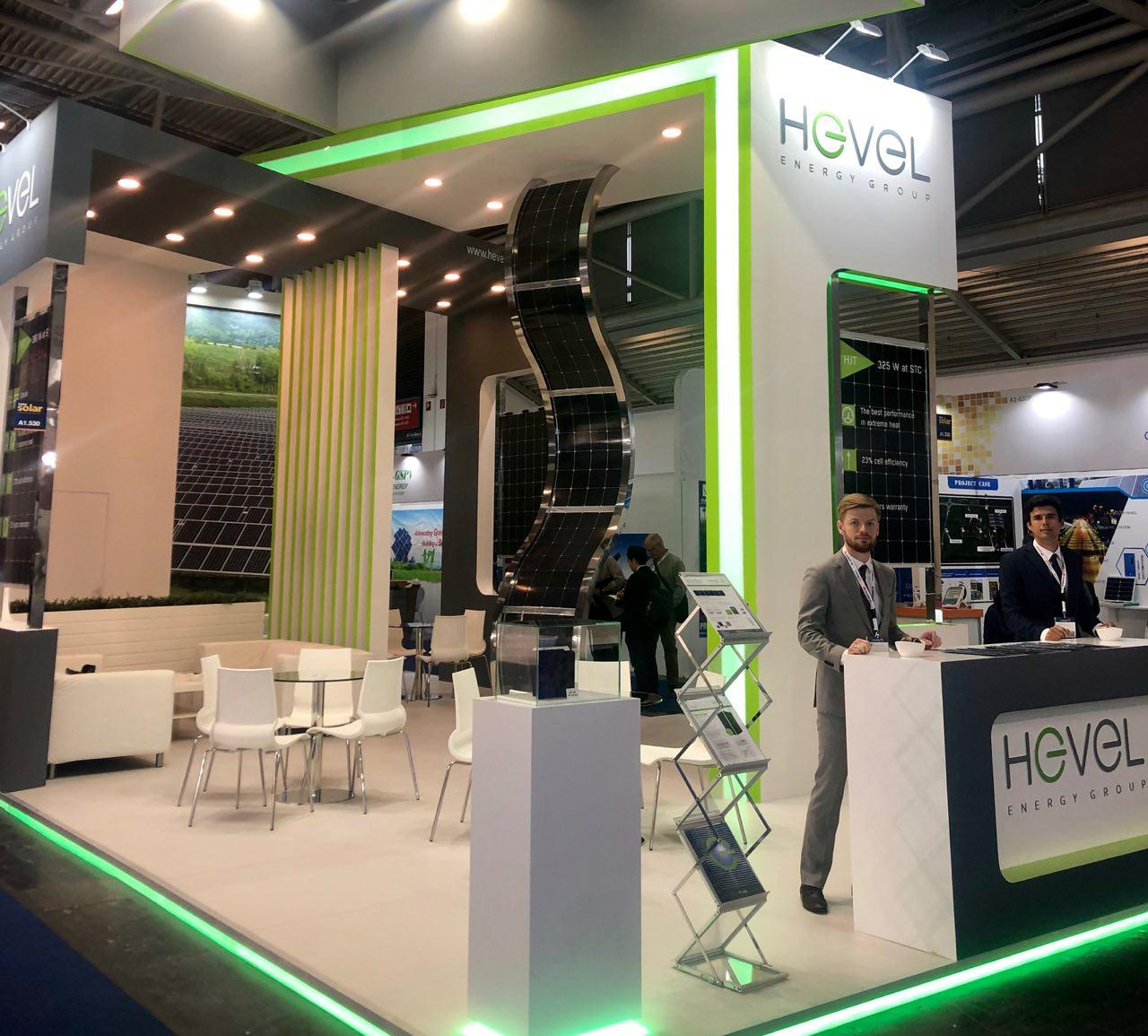 At Intersolar Europe, Hevel showcased a new HJ bifacial solar modules with a power output of up to 380Wp as well as 60-cell HJ modules with a power output of 325Wp. Image: Hevel Group