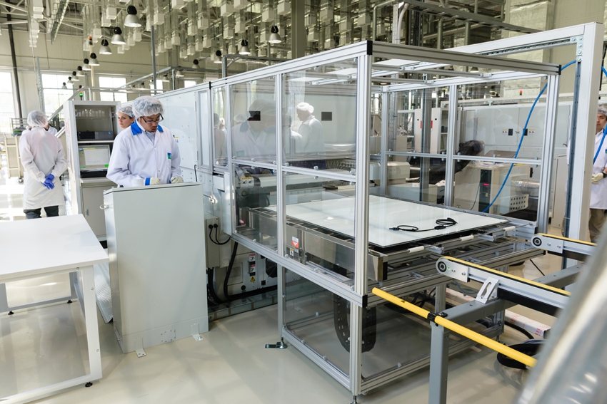 A Hevel Group solar manufacturing plant. Credit: Hevel