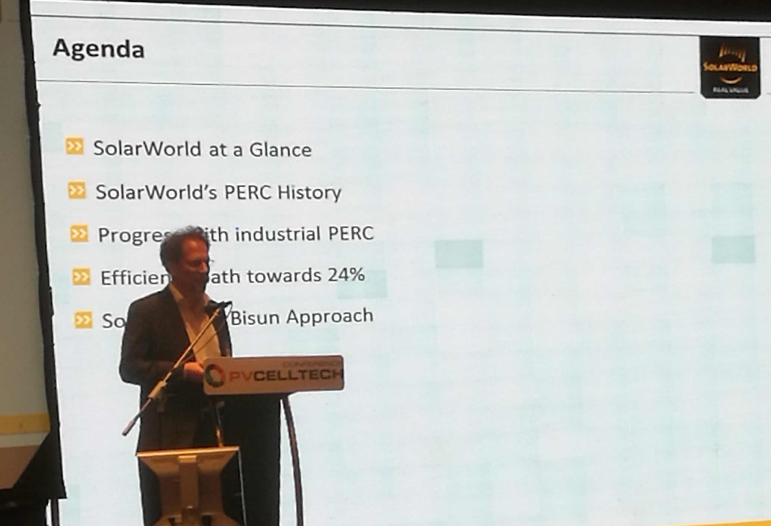 One of the most interesting talks at PV CellTech 2017 came from Holger Neuhaus from SolarWorld, in particular the company's work on commercializing bifacial cells.
