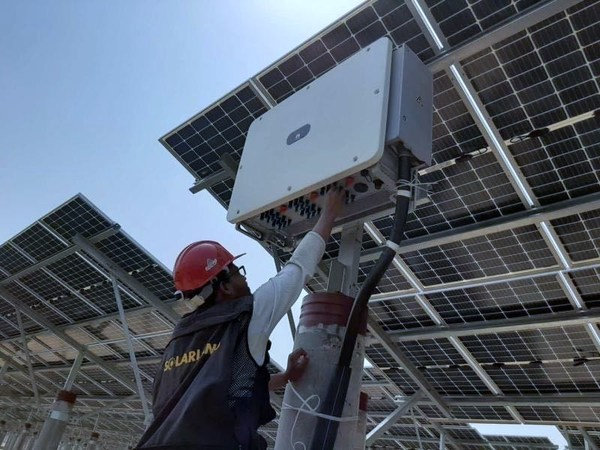 The 73MW project in Bangladesh connected earlier this month. Image: Huawei.