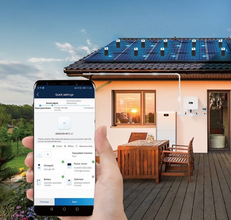 Huawei has launched its next generation 'FusionSolar' residential smart PV solution with the emphasis on innovative smart technologies to provide the easiest and highest safety installation standards and long-term operability that aims for 100% self-consumption. Image: Huawei