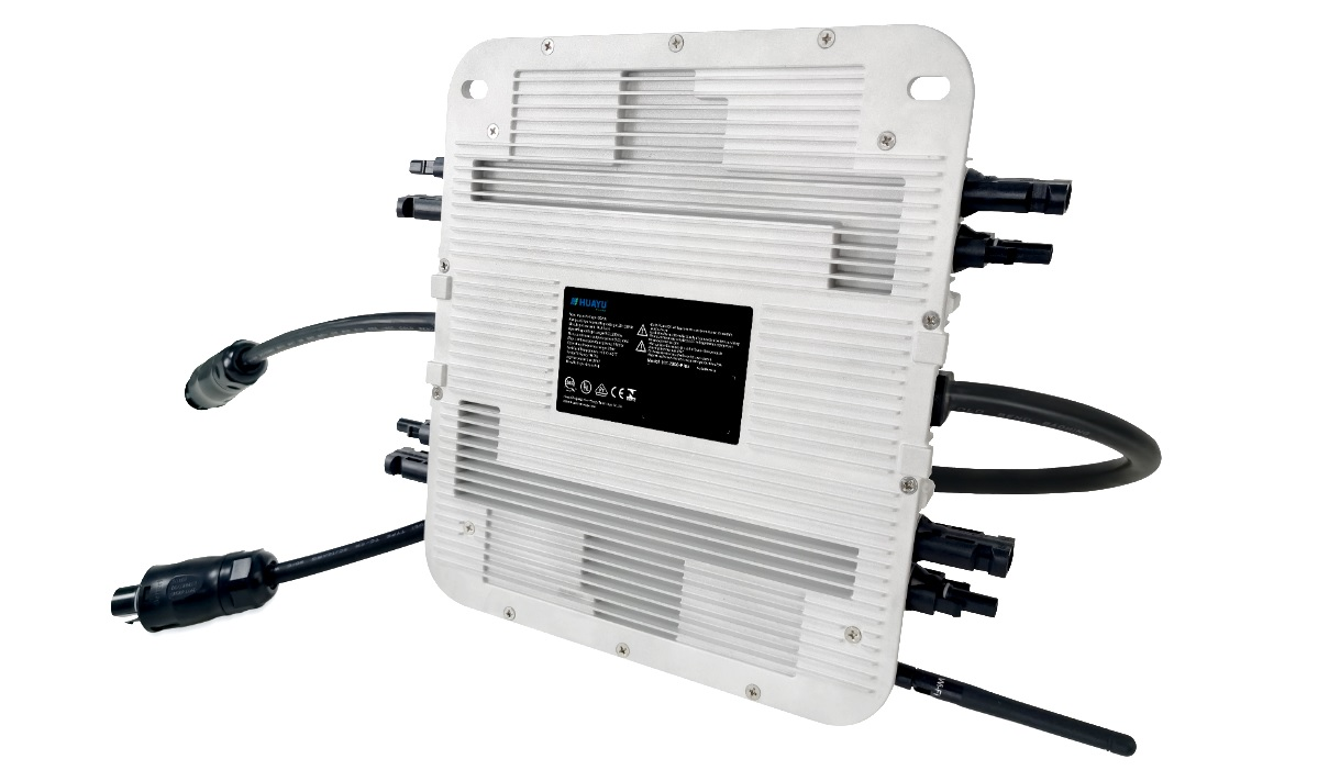 Huayu New Energy, has launched its 'HY 2000 Plus' microinverter, which has the highest recorded power density on the market and has four (4) MPPT (Maximum Power Point Tracking) and quad-module-level monitoring as standard. Image: Huayu New Energy