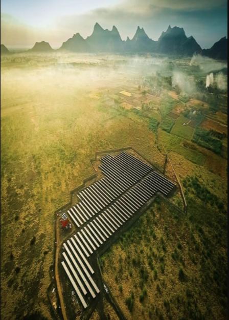 The solar park was built near the city of Madurai for The Peria Karamalai Tea & Produce Co. Credit: IBC Solar