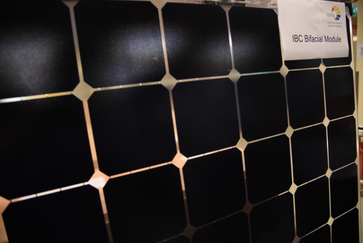 The 60-cell bifacial module uses 6-inch N-type mono wafers with ISC Konstanz fabricated ZEBRA cells with conversion efficiencies of up to 22%. Image: SERIS