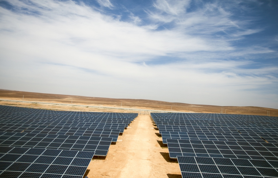 """The 2MW solar installation was built at a cost of US$9.6 million — with funding provided entirely by the IKEA Foundation's """"Brighter Lives for Refugees"""" campaign. Image: IKEA Foundation"""