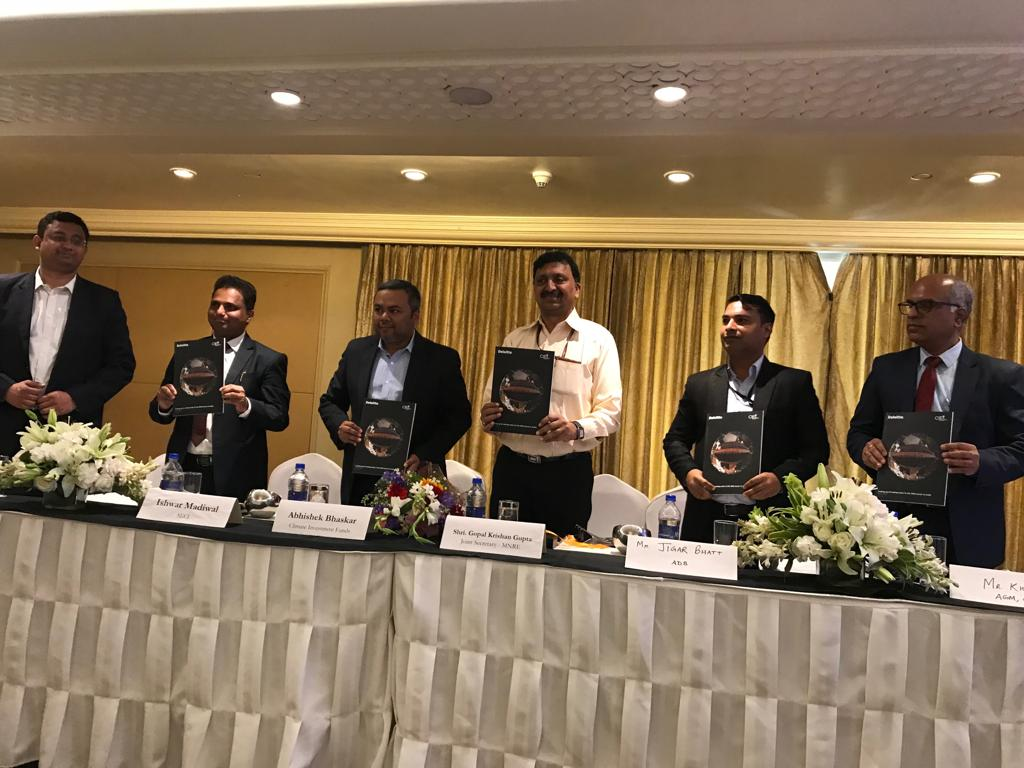 opal Krishan Gupta, Joint Secretary (Ministry of New and Renewable Energy, Government of India) released report on Scaling up Rooftop Solar in the SME Sector in India. Credit: Deloitte and CIF