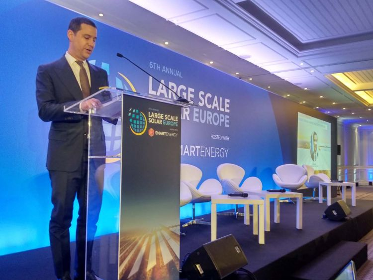 Energy state secretary João Galamba outlined Portugal's solar auction calendar at Solar Media's Large Scale Solar Europe summit in March (Credit: Solar Media)