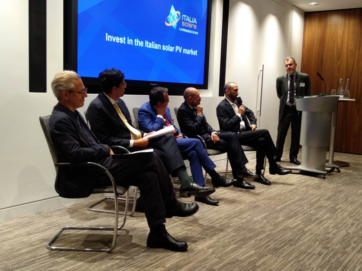 The London event examined whether Italian's PPA scene is mature enough to power a solar boom in the coming decade (Image credit: Solar Media)