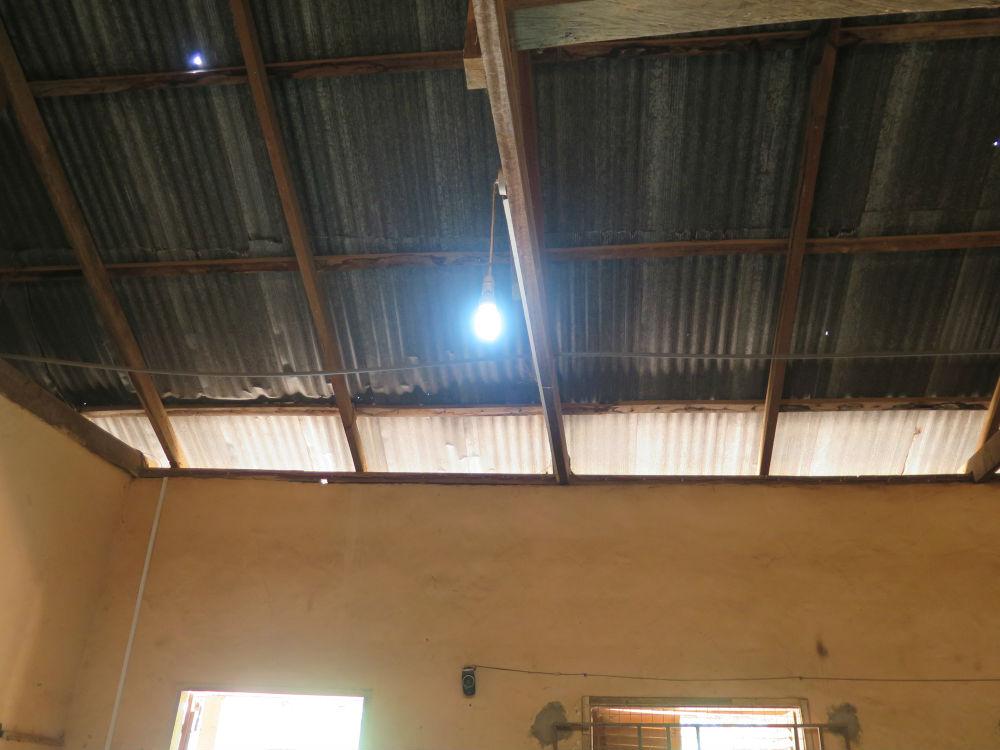 Lights up powered by solar at the Dodowa DA school