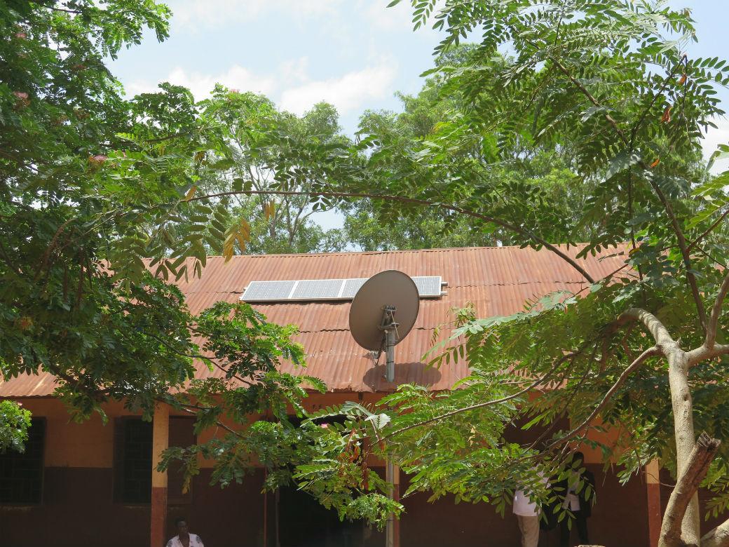 The solar and Satellite installation at Dodowa DA school