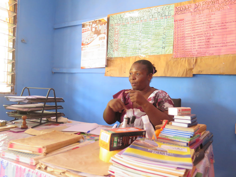 Madame Sophia, head teacher at Dodowa DA school