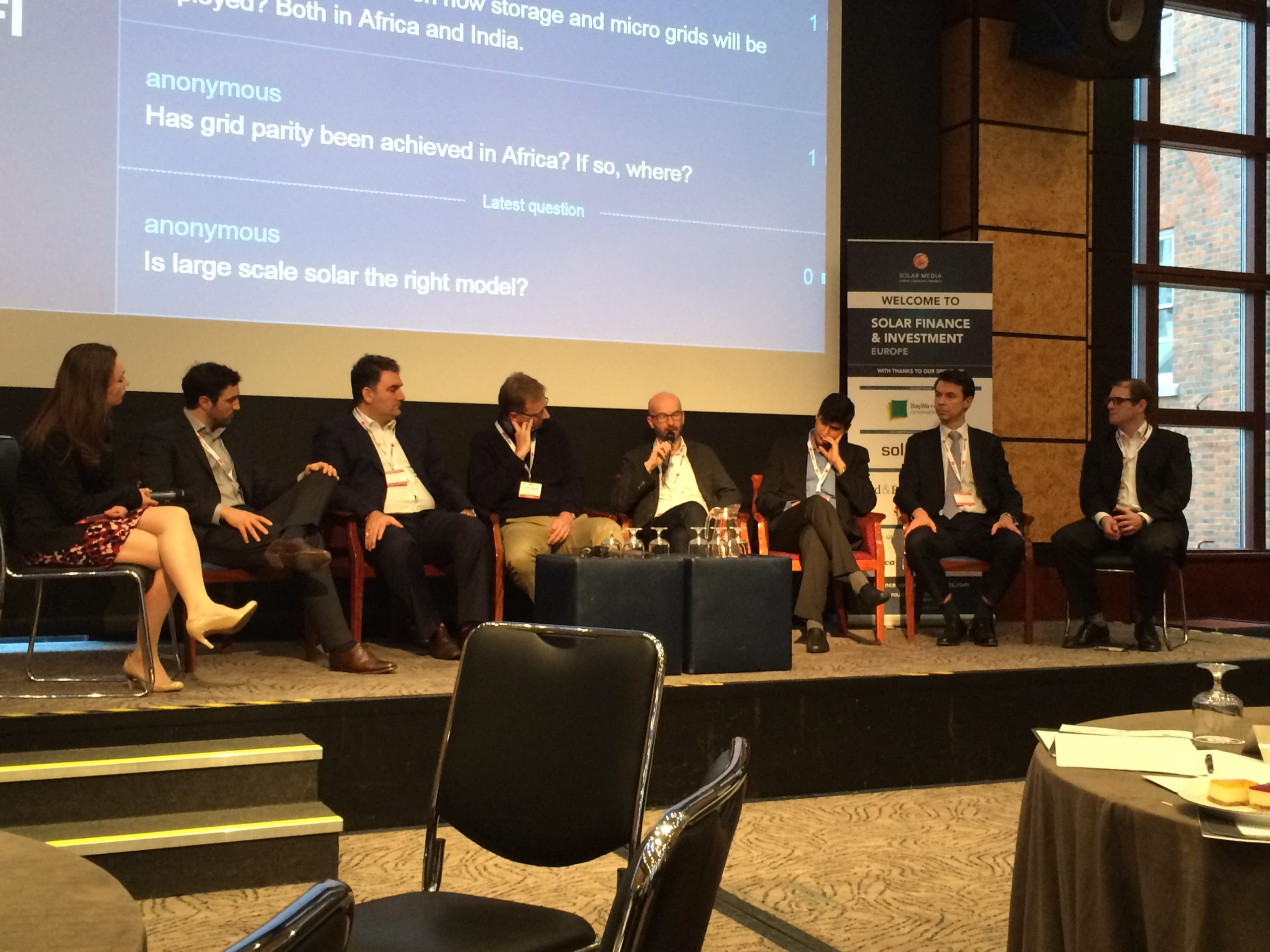 Investors from emerging markets Africa, India and Australia at Solar Media's Solar Finance & Investment Europe event.