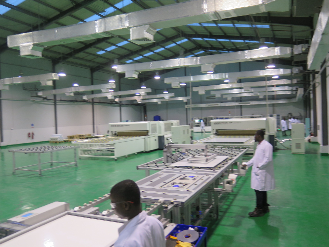Production line inside the plant. Credit: Tom Kenning