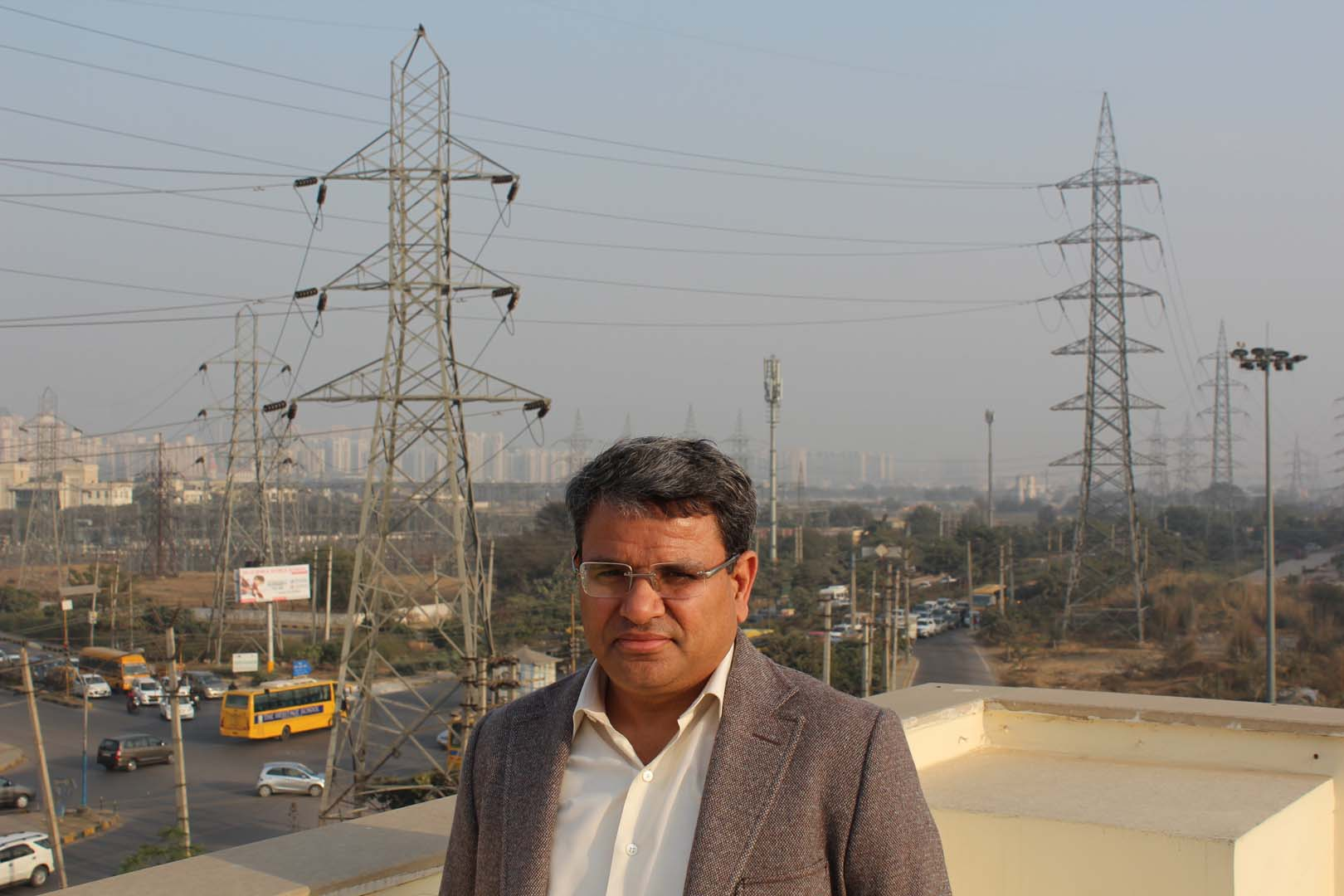 Manoj Kumar Upadhyay, the founder, chairman and managing director of ACME group, at the company offices in Gurgaon, New Delhi. Credit: Tom Kenning.
