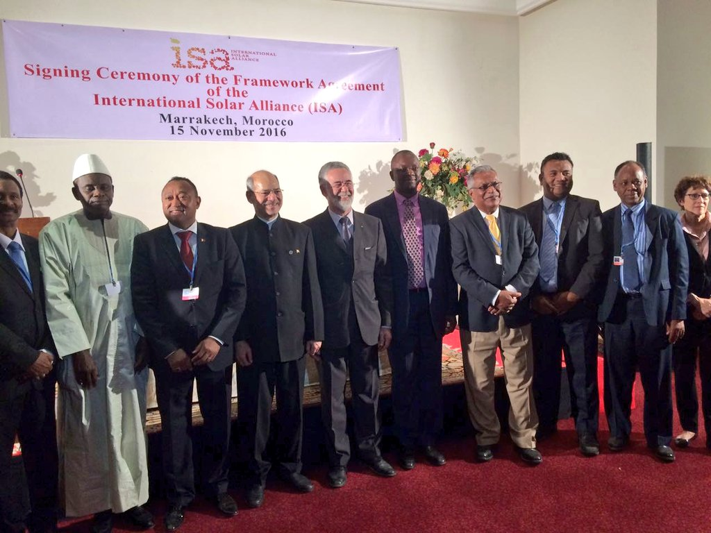 A recent ISA signing at COP22. Credit: ISA