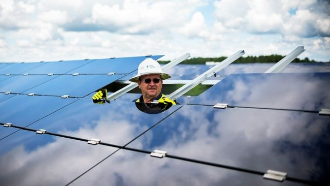 Duke Energy has more than 3.5GW of solar capacity connected to its energy grid in the Carolinas. Image: Duke Energy/Twitter.