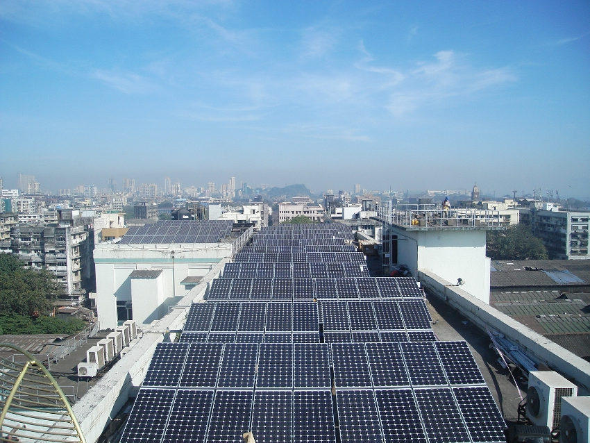 Bridge to India predicts that the indian rooftop market will hit 6.5GW by 2020. Credit: Tata Solar.