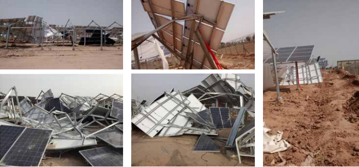 When still a nascent market, some of India's solar PV plants with poor designs were ruined in high wind speeds, but quality remains an issue.