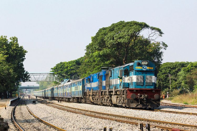 Indian Railways expects to achieve 100% electrification by 2023. Image: Flickr/Belur Ashok.