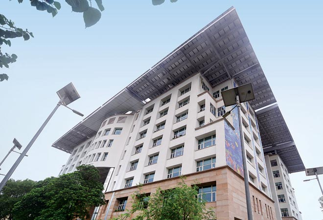 Indira Paryavaran Bhawan, New Delhi, India's first Net Zero Energy Building (NZEB), built with integrated energy-conservation methodologies and a super-efficient solar PV system of 930 kW capacity